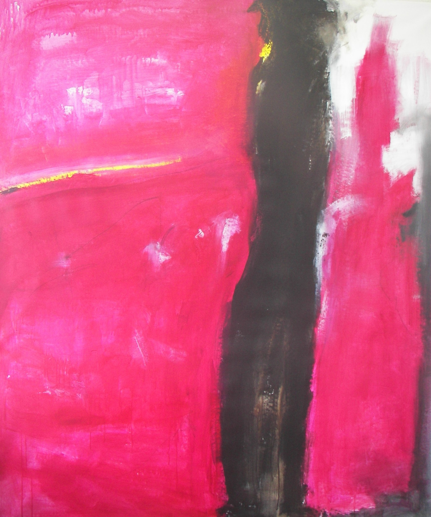'donna in rosso' 170x200cm 2010